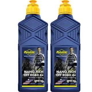 Putoline Off Road Nano Tech 4+. 10W 40 Motocross MX 4 Stroke 4T Engine Oil  2L
