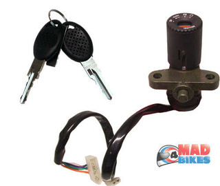 APRILIA RS125, RS50, RS250 IGNITION & STEERING LOCK 4 WIRE CONNECTOR TYPE