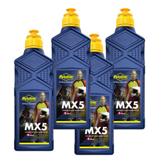 Putoline MX5 Synthetic 2 Stroke Pre-Mix Oil ,MX Motocross Enduro Bike 4 Litres
