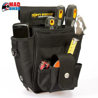 DIRTY RIGGER TECHNICIANS TOOL POUCH, SOUND, LIGHT, VISUAL, RIGGING,THEATRE, FILM