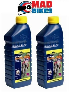 PUTOLINE OFF ROAD NANO TECH 4+ 10W 60 MOTOCROSS 4 STROKE ENGINE OIL  2 X 1LTRS