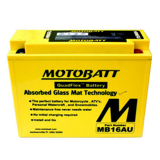 Motobatt MB16AU AGM Battery upgrade replacement for YB16AL-A2