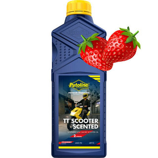 Putoline TT Scooter Strawberry Scented 2 Stroke Oil 2T Low Smoke Clean Burning