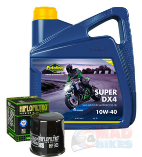 Honda Hornet CB600 F 1998 to 2002 Putoline DX4 Engine Oil & Hi Flow Oil Filter