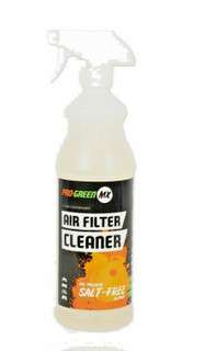 Pro-GreenMX Air Filter Cleaner is 100% methanol-free, meaning it does not attack the foam or glue that holds the filter