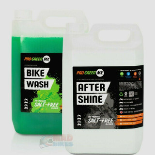 Pro Green MX Bike Wash Cleaner 5L and After Shine Protection Silicone Spray 5L
