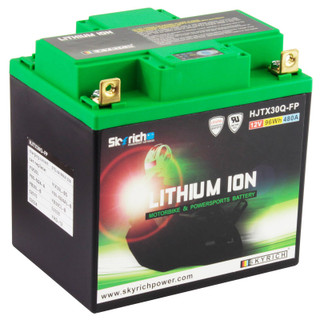 SkyRich HJTX30Q-FP Lithium Motorcycle Premium Battery Replaces YIX30L-BS, YIX30L