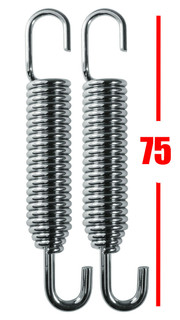 Honda CR125 ,CR250 Stainless Steel Swivel End Exhaust Springs X 2 (PAIR) 75mm