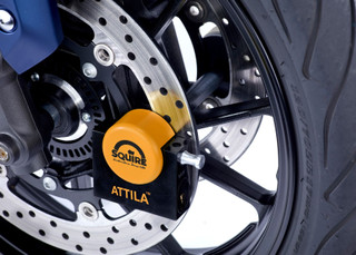 Squire Attila Diamond Sold Secure Motorcycle Disc Lock - Long Pin