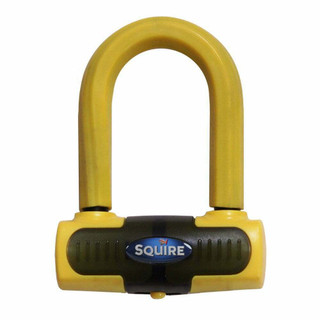 Squire Eiger Motorcycle Mini Disc Lock Sold Secure Gold 13mm Shackle