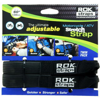 """Adjustable Motorcycle Luggage Straps 18"""" to 60"""" Bungee Twin Pack (500 to 1500mm)"""