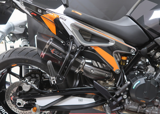 KTM 790 Duke Lextek XP8C Carbon Exhaust Silencer, Linkpipe & Carbon Heat Shield