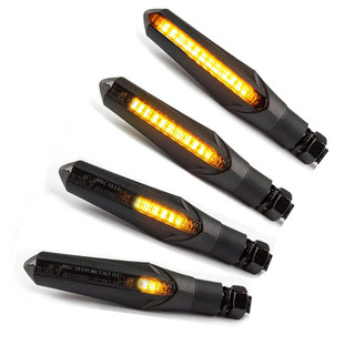 Lextek Sequential Motorcycles Indicators Sweeping LED Also Built in Brake Light