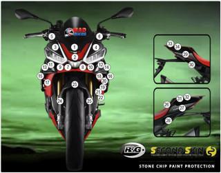 R&G Second Skin, Aprilia  Tuono V4 2021 > On Motorcycle Stone Chip Protection