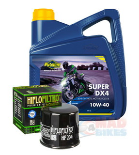 Honda CBR600 F 1986 to 2013  Putoline DX4 Engine Oil and Hi Flow Oil Filter 4L