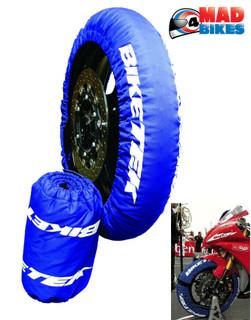 BikeTek Front & Rear SuperBike Motorcycle Bike Tyre Warmers 180/190-17, 3 PIN UK