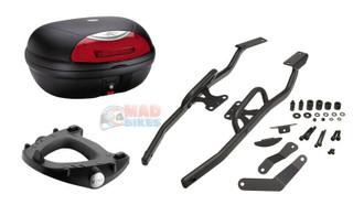 Honda VFR800 Fi 1998 to 2001 Givi Monokey Rack & Kappa K48N Top Box + Backrest