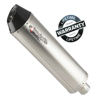Lextek RP1GL Titanium Look With Carbon Tip Oval Motorcycle Exhaust Silencer