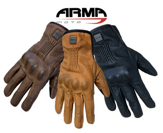 ARMR Retoro Touring Leather Motorcycle Motorbike Gloves Classic Custom Style new