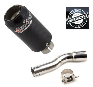 HONDA CMX500 Rebel  Lextek  CP8C Full Carbon Stubby Exhaust Silencer & LinkPipe