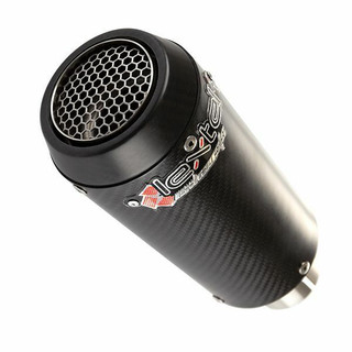 Lextek CP9C Full Carbon Motorcycle Motorbike Stubby Exhaust Silencer End Can New