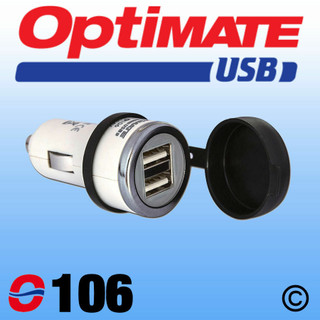 Optimate O-106 Double USB Charger For Cigarette Lighter Plug Motorcycle Car Boat
