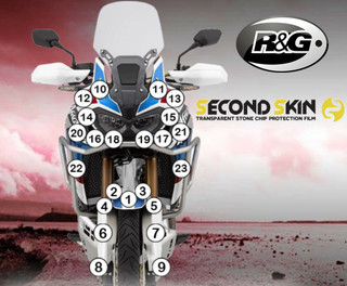 R&G Second Skin Honda Africa Twin Adv Sports Motorcycle Stone Chip Protection