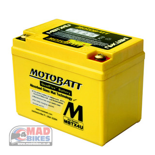 Motobatt MBTX4U AGM Motorcycle Battery