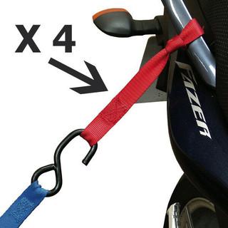 Easy Tie Motorcycle / Motorbike / MX Ratchet Strap Tie Down Loop Extensions x 4