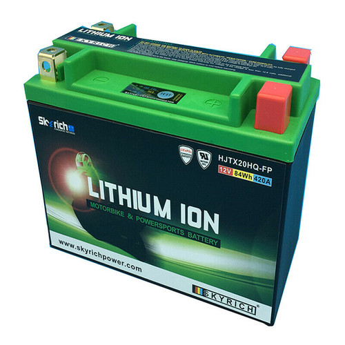SkyRich Lithium Motorcycle Battery Replaces YTX20L-BS, YTX20-BS,