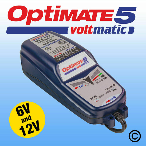 Optimate 5 Voltmatic  6V & 12V Automatic Motorcycle Battery Charger Optimiser