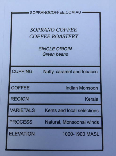 Tasting Notes of Indian Monsoon Malabar Coffee Beans