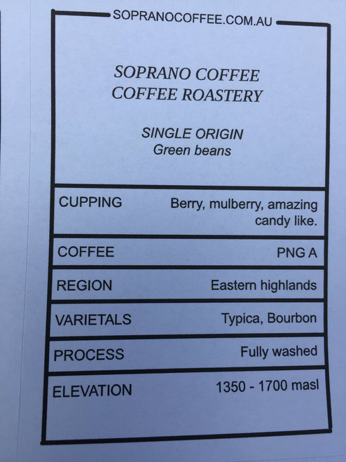Tasting Notes Of Papua new Guinea Coffee Beans
