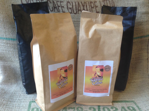 Roasted Coffee beans MUTLI PACK, 4 x 1kgs  | Soprano Coffee