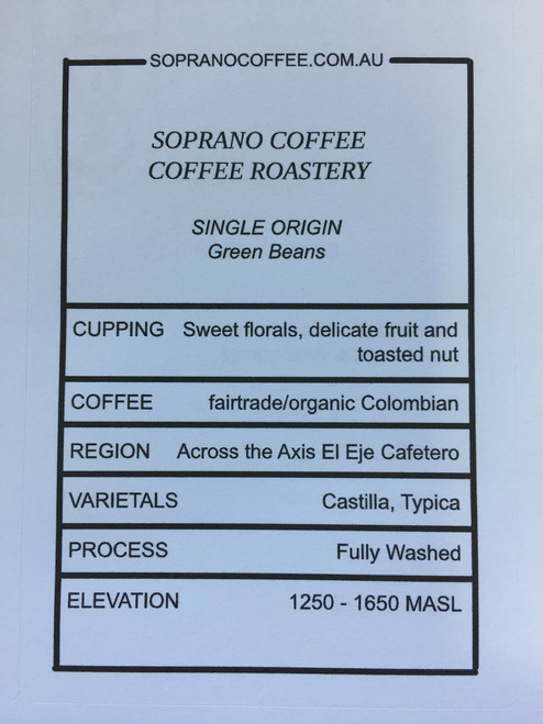 Tasting Notes Of Colombian Fairtrade Organic Coffee beans