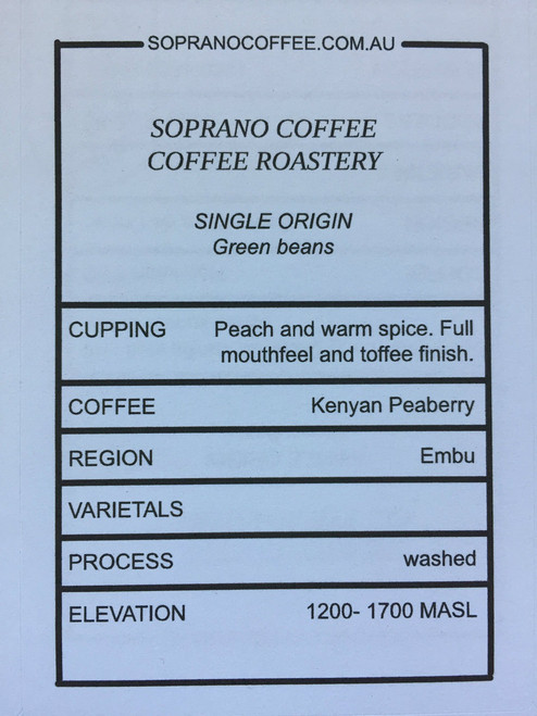 Tasting Notes of Kenyan Peaberry Coffee Beans