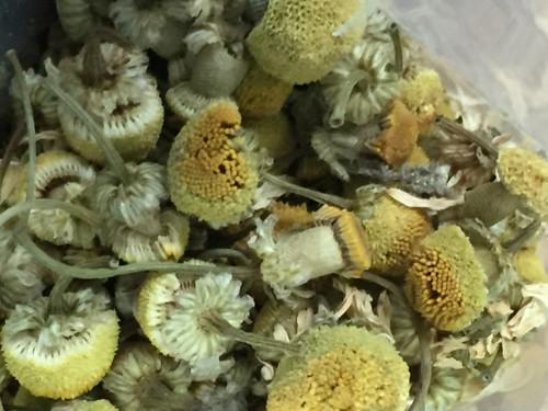 Chamomile flowers, loose leaf tea