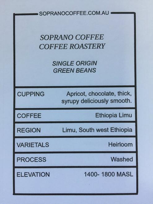 Tasting notes of Ethiopian Limu coffee beans