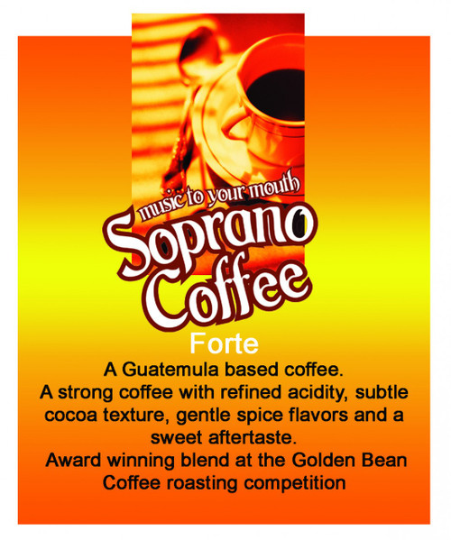Raw Green coffee beans Forte Blend Soprano Coffee Blend
