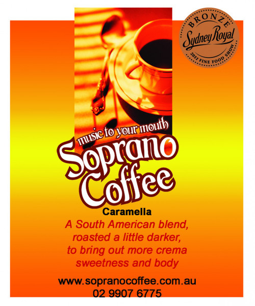 Raw Green Coffee Beans Caramella Blend Soprano Coffee 16Kg BAG