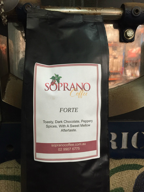 Forte Blend Soprano Coffee 20 x 1kg bags wholesale coffee