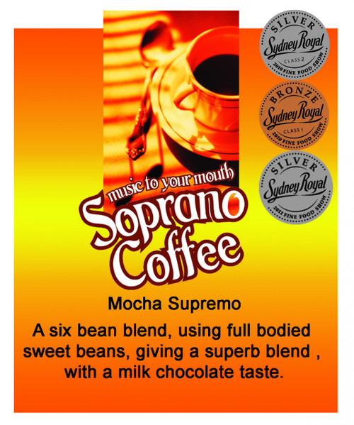 multi award winning mocha supremo coffee beans