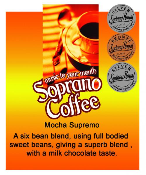 multi award winning mocha supremo coffee beans