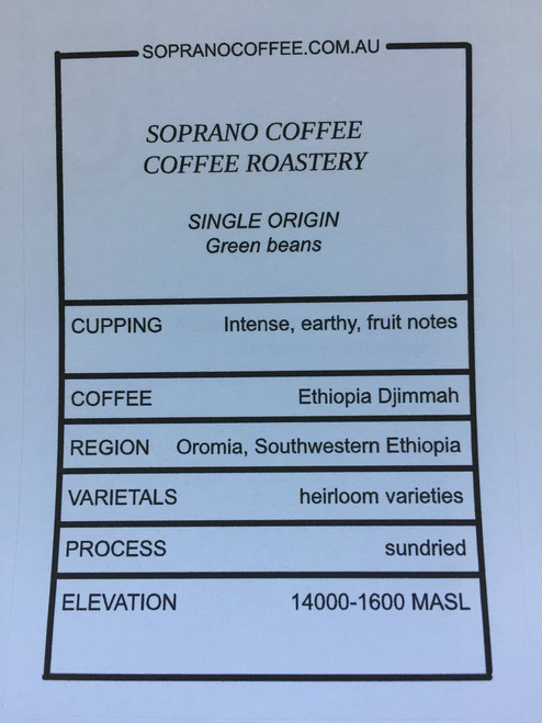 Tasting Notes Of Ethiopian Djimmah Coffee Beans