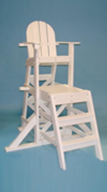 "Medium Lifeguard Chair (front ladder)  MLG 525  62""L x 59""W x 70""H Seat Height 50"" Platform Height 33"" Weight 155 lbs."