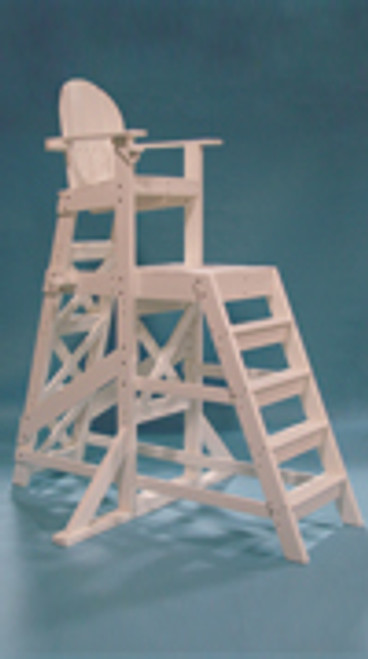 "Tall Lifeguard Chair (front ladder) TLG 535  72""L x 59""W x 85""H Seat Height 64"" Platform Height 47"" Weight 200 lbs. Ships via Freight Truck"