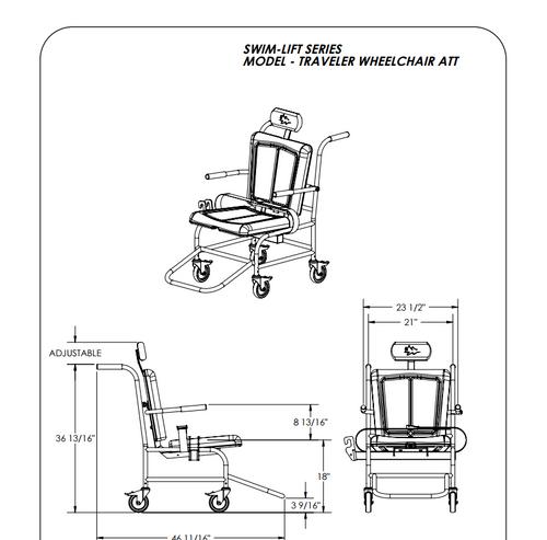 Wheel Chair Attachment Traveler Pool Lift