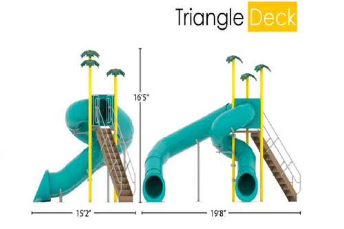 Double Flume, 360/90, Triangle Deck