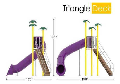 Single Flume, 90, Triangle Deck