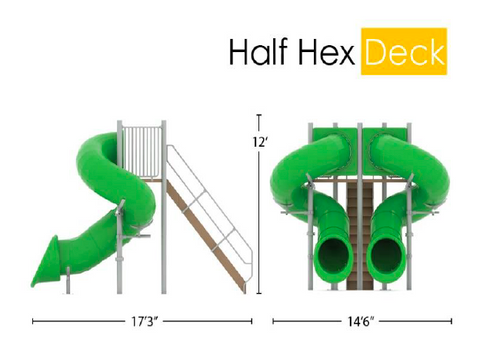 Double Flume, 360/360, Half Hex Deck